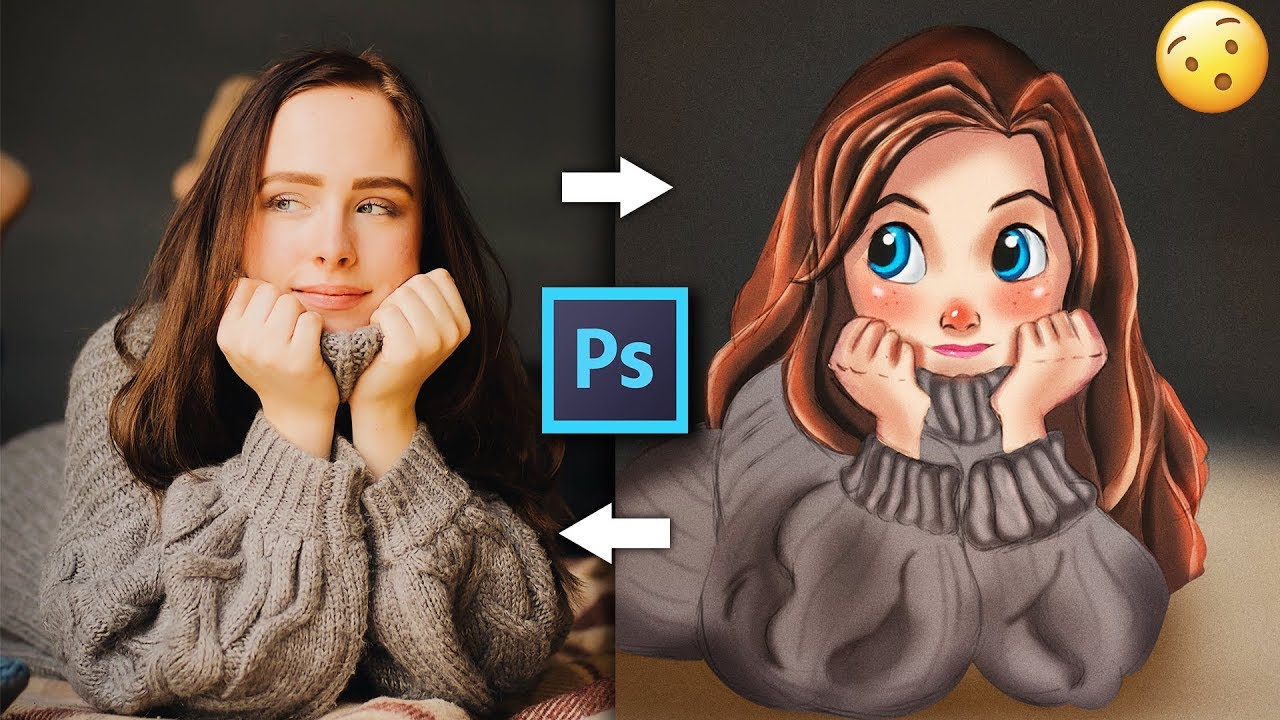 Make Yourself A Cartoon Character Tutorial Photoshop Youtube
