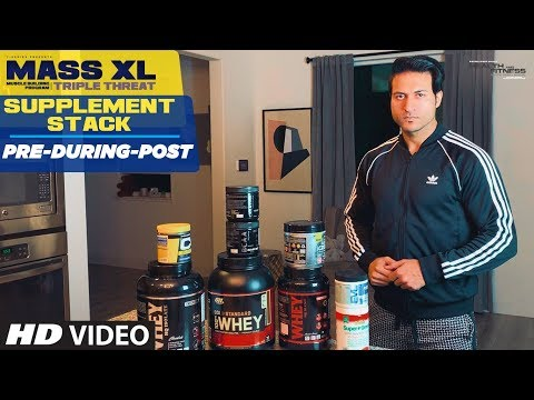 Supplement Stack: (Pre During Post) MASS XL - Muscle Building Program by Guru Mann