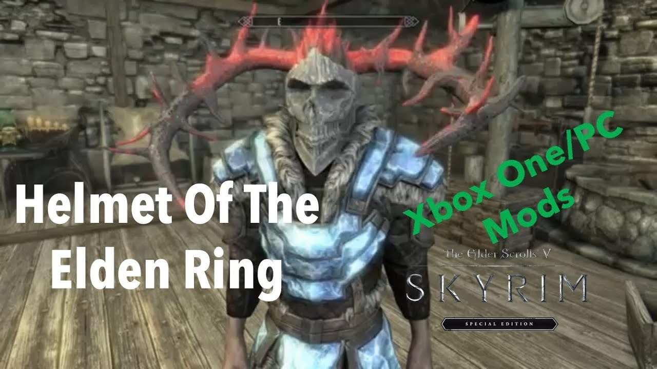 Helmet Of The Elden Ring| Skyrim SE Xbox One/PC Mods
