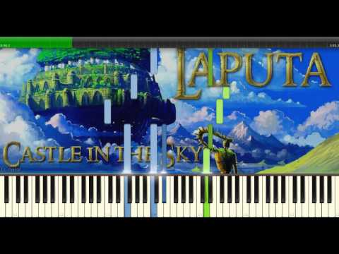 Laputa: Castle in the sky - Carrying you/Innocent | Piano Synthesia Cover