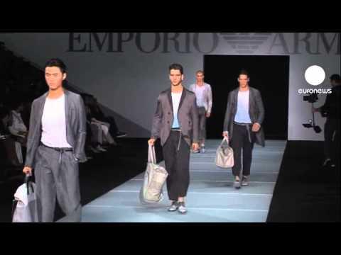 euronews le mag - Milan semaine de la mode homme, printemps-été 2012