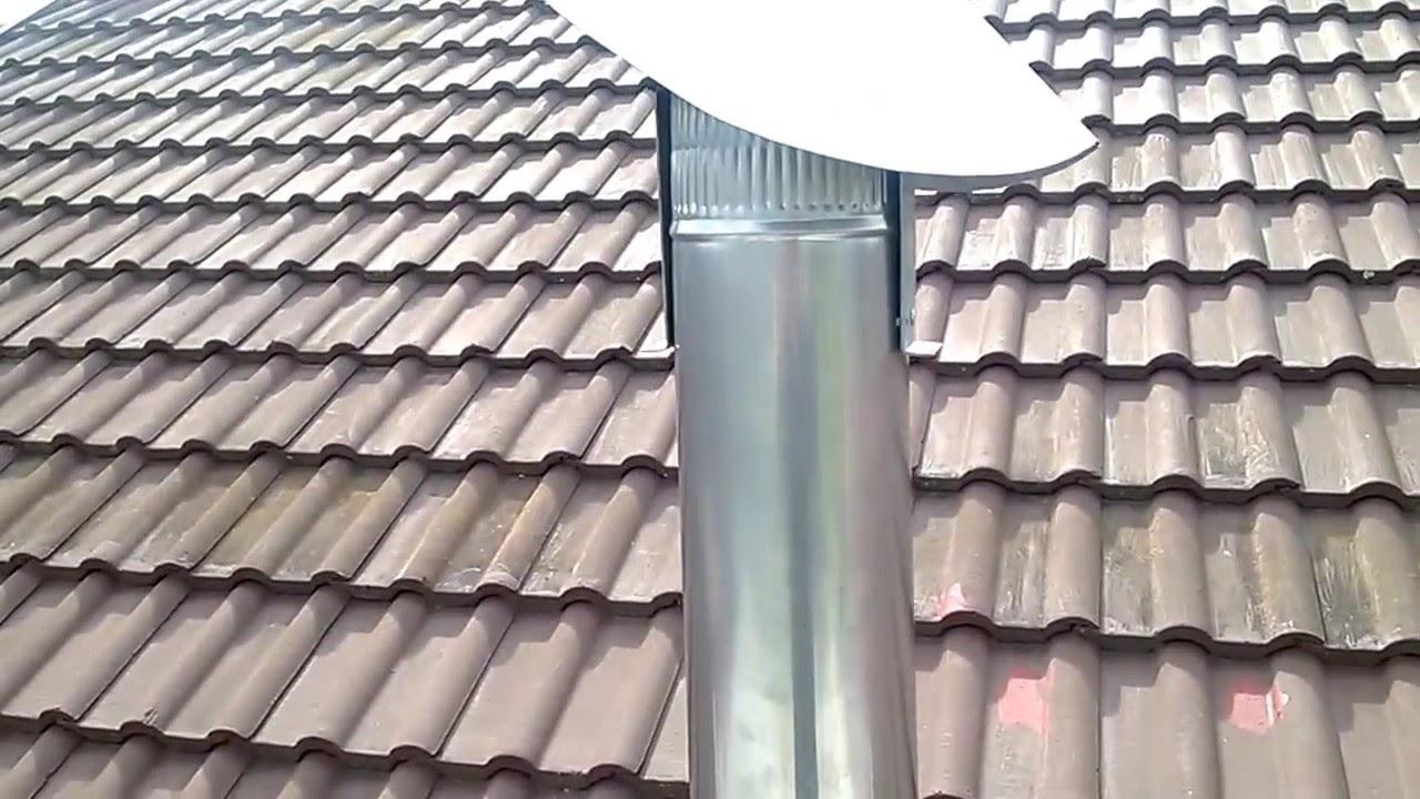 diy rotating chimney cowl youtube