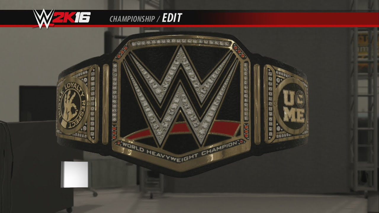 Wwe 2k16 Creations Custom Championship John Cena Side