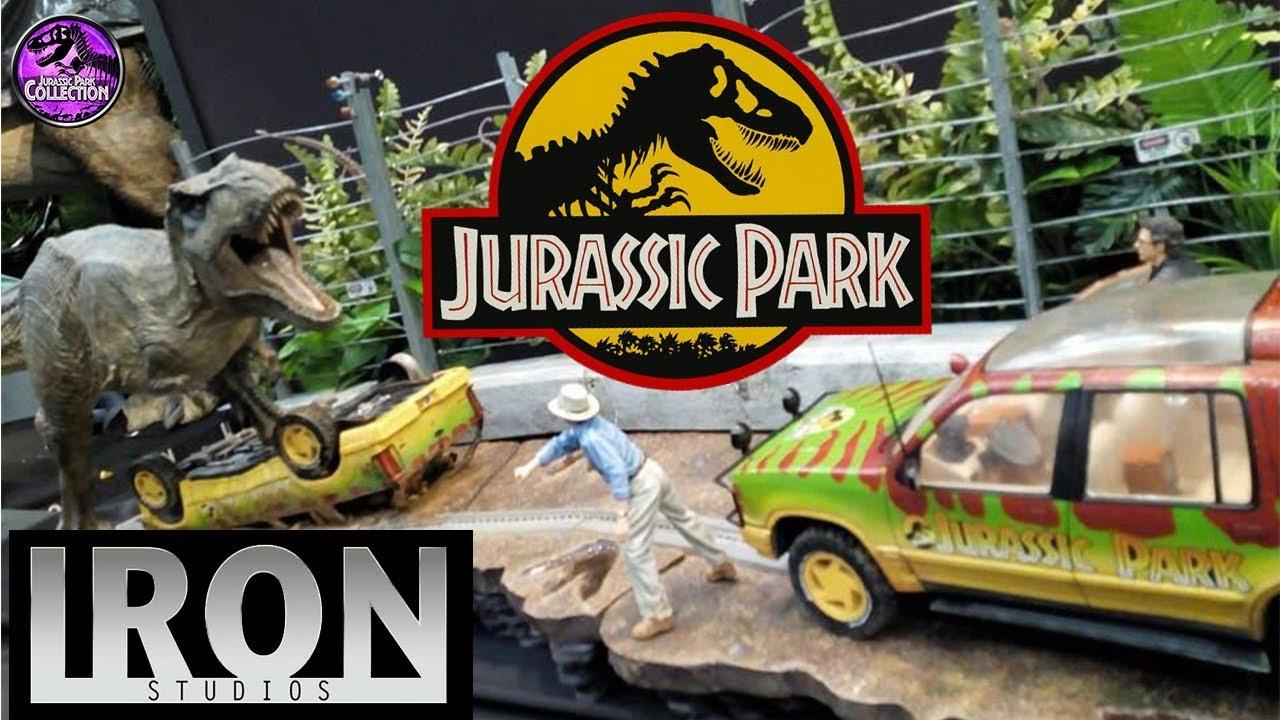 Iron Studios Jurassic Park Diorama Booth Ccxp Brasil Youtube Prime 1 Studio Tyrannosaurus Rex 1993 15