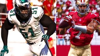 Madden 15 Player Franchise PS4 Gameplay - Liam Taylor Y1W4 - Kaepernick Defeats Eagles?