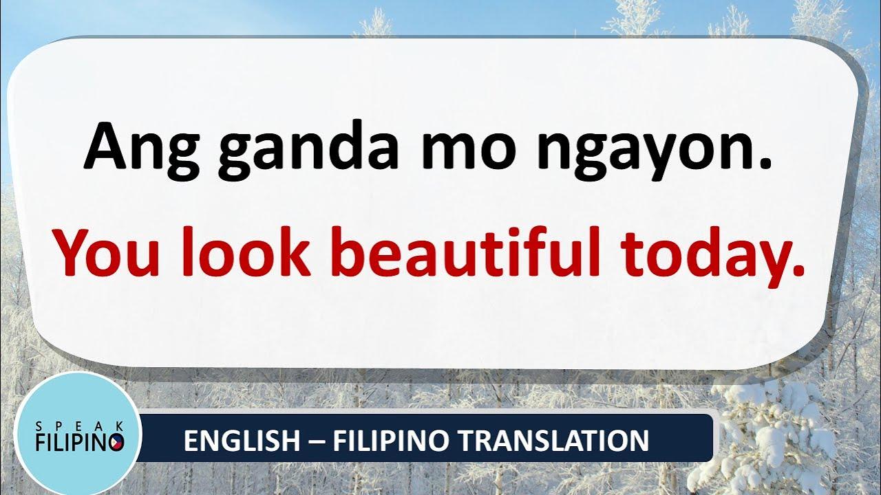 POSITIVE PHRASES to Make Someone SMILE! (English - Tagalog)