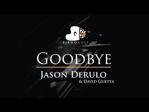 Jason Derulo X David Guetta - Goodbye Ft Nicki Minaj  - Piano Karaoke / Sing Along Cover With Lyrics