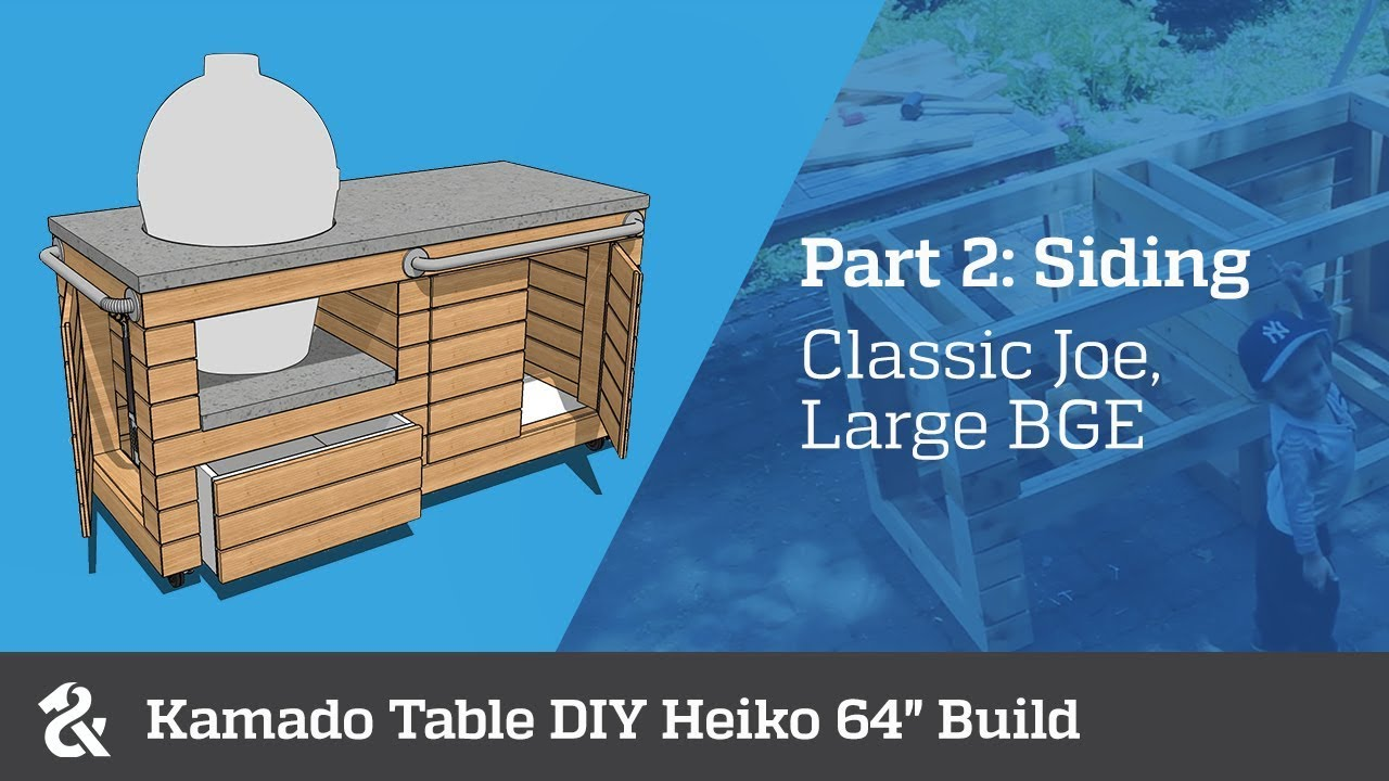 "Kamado Table DIY Heiko 64"" (Part 2)"