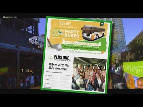 Party bus to the Waste Management Phoenix Open
