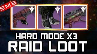 Destiny: HARD MODE RAID LOOT X3 CHARACTERS + FUNNY LOOT DROP REACTIONS!