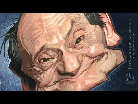 Digital caricature sketch time lapse