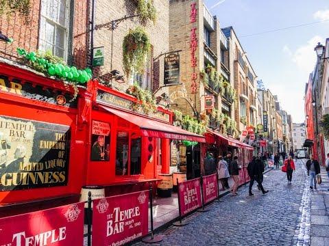 A walk through the Temple Bar area of Dublin, Ireland