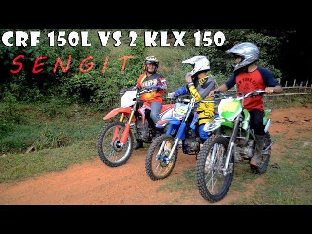 SENGIT 1 CRF 150L Vs 2 KLX 150 ( BBC SIRKUIT )