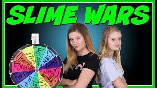 SLIME WARS MYSTERY WHEEL OF SLIME CHALLENGE | Taylor and Vanessa