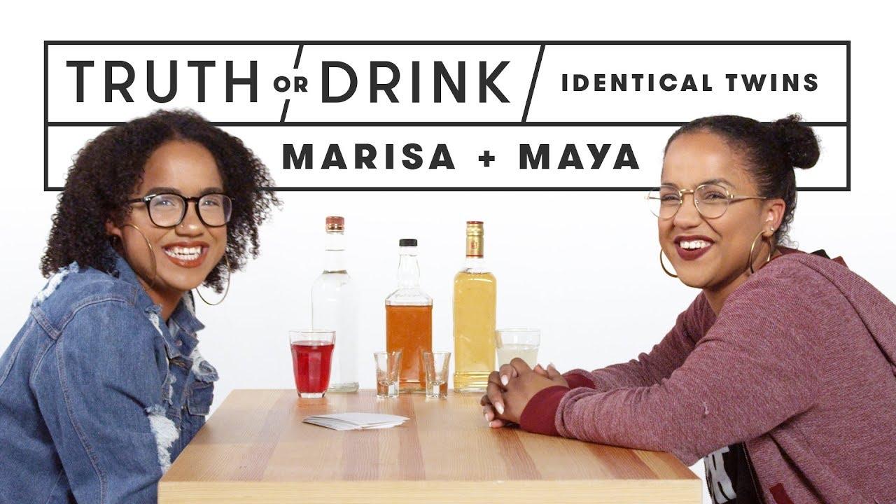 Identical Twins Play Truth or Drink (Marisa & Maya) | Truth or Drink | Cut