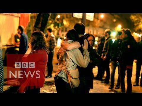 Paris attack: 'People falling, screaming, clawing, pushing to get away' BBC News