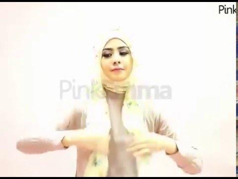 Tutorial Hijab Floral Praktis Ala Artis Risty Tagor - YouTube