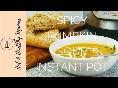 Instant Pot Pumpkin Soup With Crispy Sage Leaves