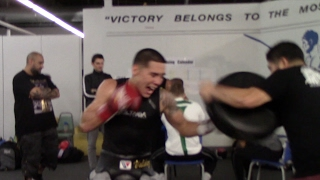 EXPLOSIVE! - WBO FEATHERWEIGHT WORLD CHAMPION OSCAR VALDEZ **IN CAMP FOOTAGE**