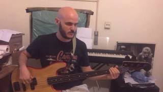 chris de burgh - lady in red - bass cover + tutorial
