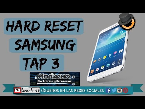 Samsung Galaxy Tab 3 SM-T211 T210 hard reset cuando está lenta