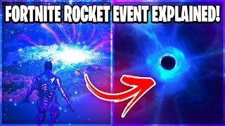 Fortnite Chapter 2: BLACK HOLE AND ROCKET EVENT EXPLAINED!