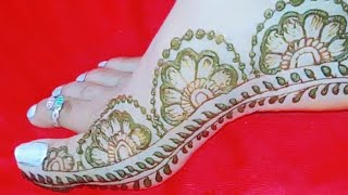 very easy & simple feet 👣 mehndi design || beautiful foot mehndi design || RCcreativeuttrakhandy