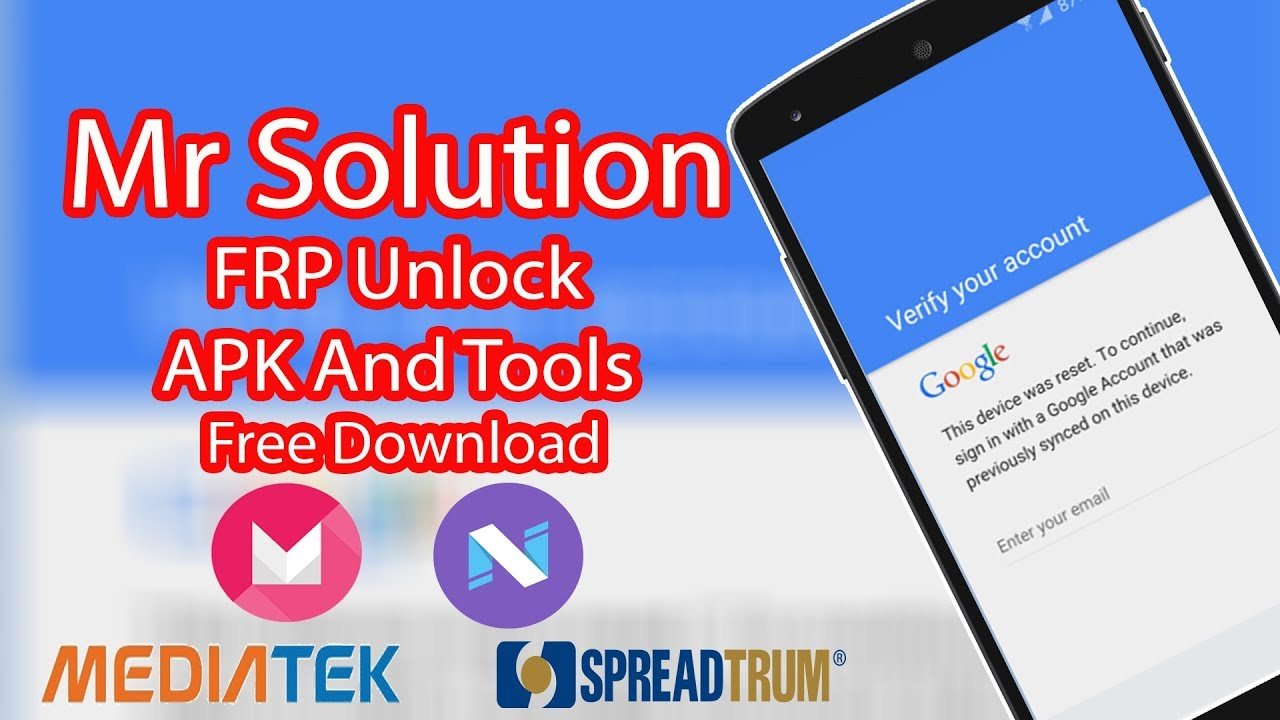 Mr Solution FRP Unlock APK And Tools Free Download
