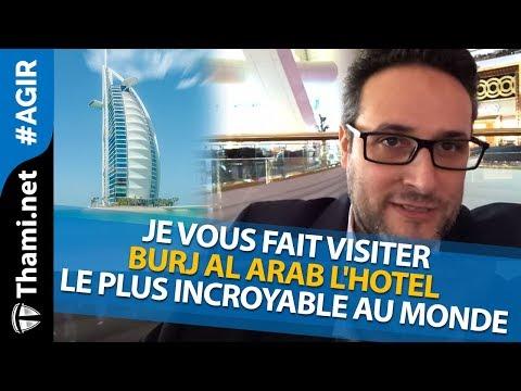 Je vous fait visiter Burj Al Arab l'hotel le plus incroyable au monde ???  [REPLAY]