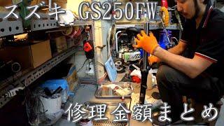 GS250FW 最終回!タイヤのビードが上がらない! レストアガレージ#6-6