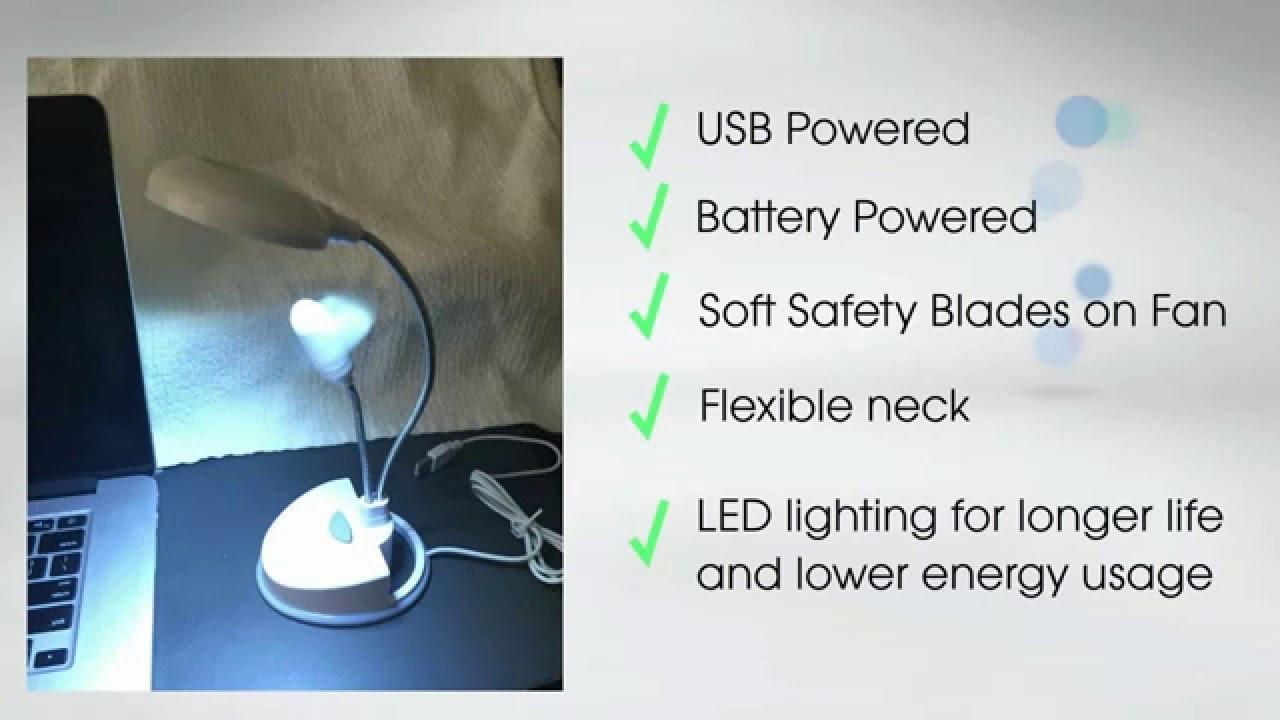 Usb Led Desktop Lamp Fan For Low Cost Energy Lighting Solution
