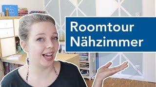 Roomtour Nähzimmer inkl. Chaos   Ordnung halten beim Nähen