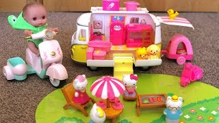 Hello Kitty Camper Van & Hello Kitty  Airplane baby Dolls Play & Children Nursery Rhymes