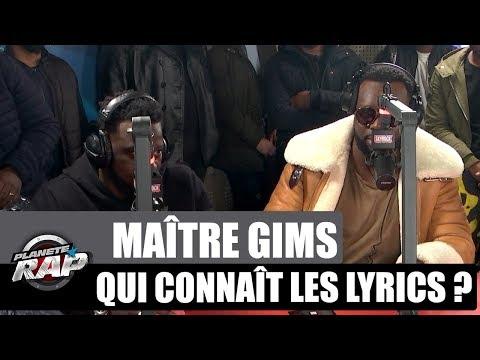 Maître Gims - Qui connaît les lyrics ? #PlanèteRap