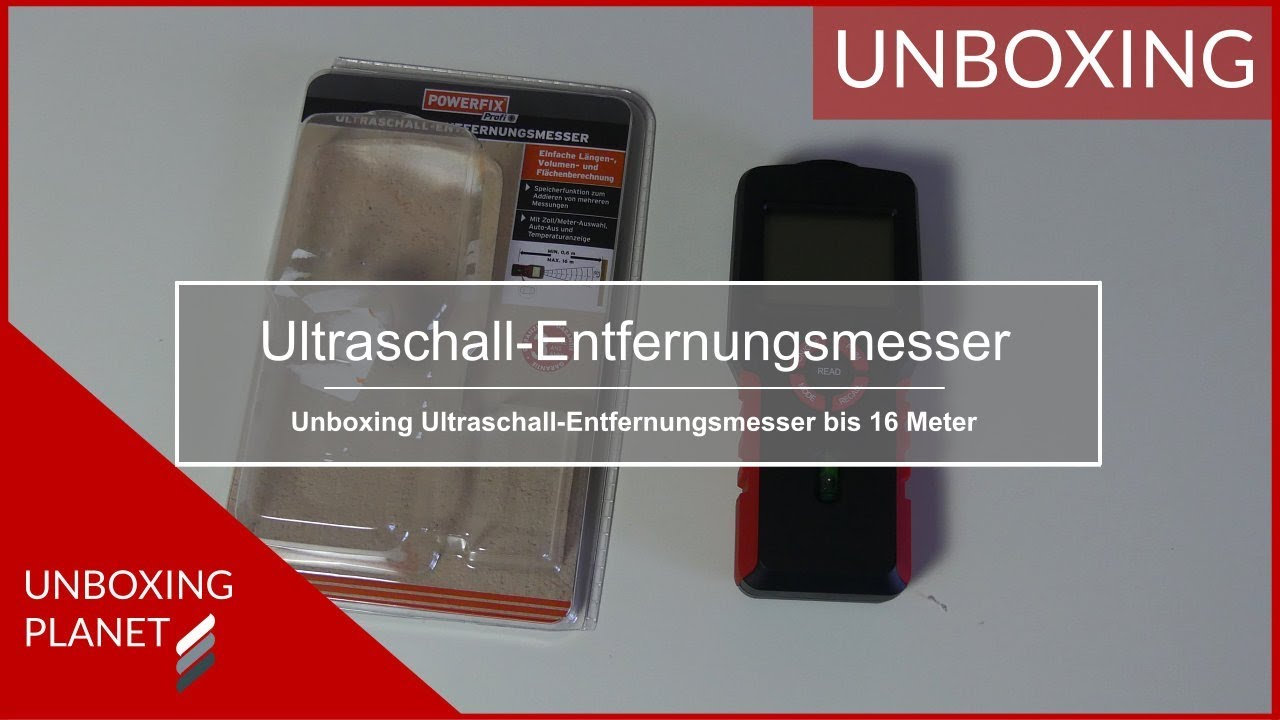 Entfernungsmessung Mit Ultraschall : Kompakter ultraschall entfernungsmesser unboxing planet youtube