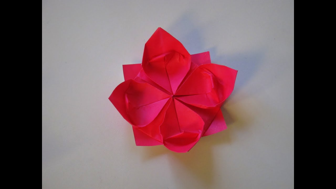 Origami how to make a lotus flower youtube mightylinksfo