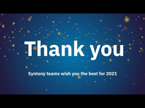 Happy New Year 2021 from Syntony's Teams