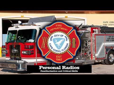 CCFD Personal Radios CRITICAL SKILLS