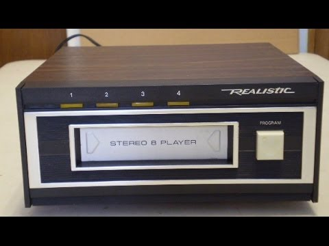 1989 Realistic TR-169 8-track tape player