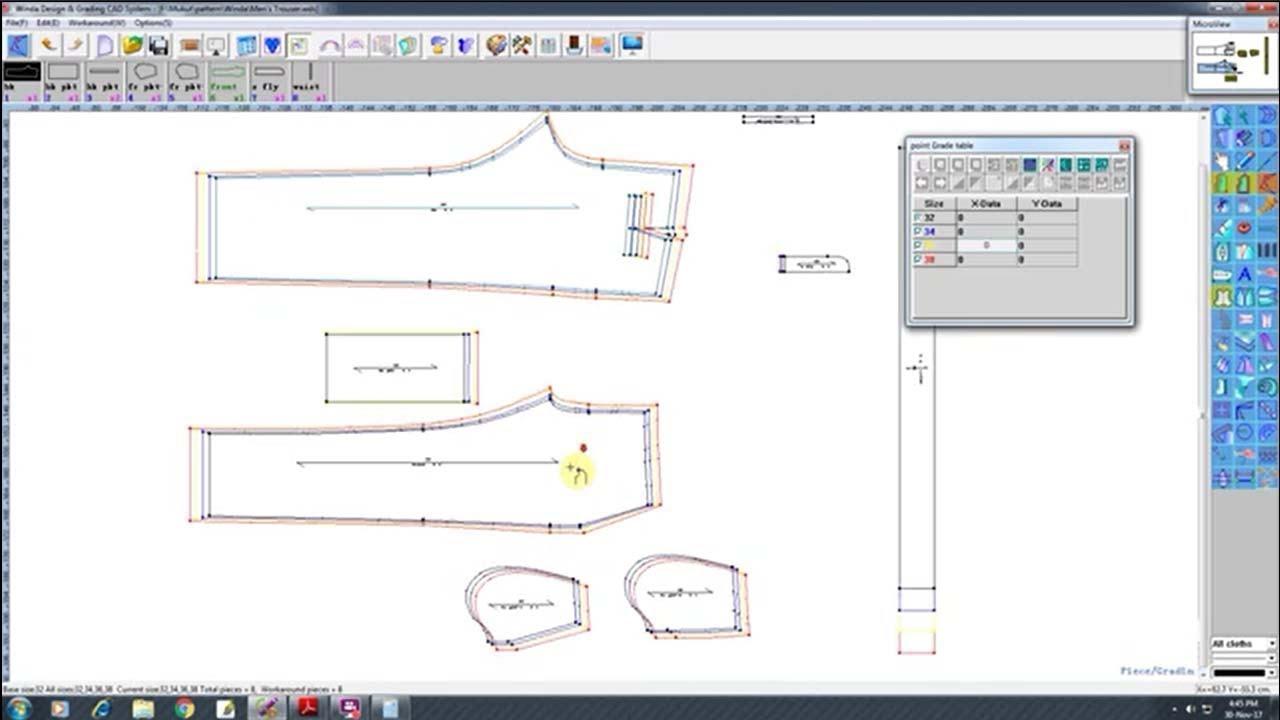 grading tutorial winda grading tutorial winda cad for pattern design winda software youtube. Black Bedroom Furniture Sets. Home Design Ideas