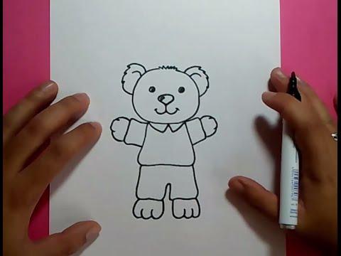 Como dibujar un oso de peluche paso a paso 18  How to draw a