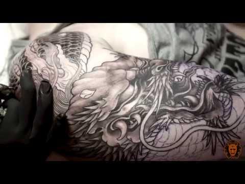 Dragon half sleeve tattoo | Golden Needle Tattoo | Artist Chart