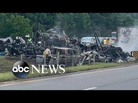 10 dead after 18-car crash on Alabama highway