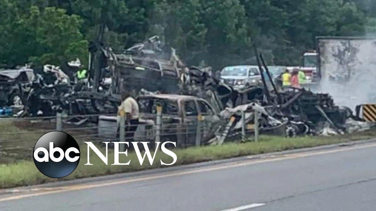 Download 10 dead after 18-car crash on Alabama highway