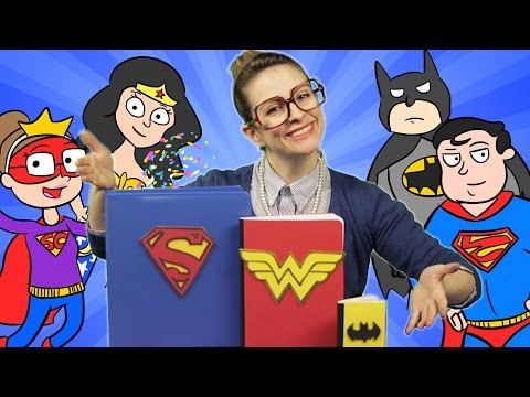 Superhero Notebook Craft - Wonder Woman, Batman & Superman! | A Cool School Craft with Crafty Carol
