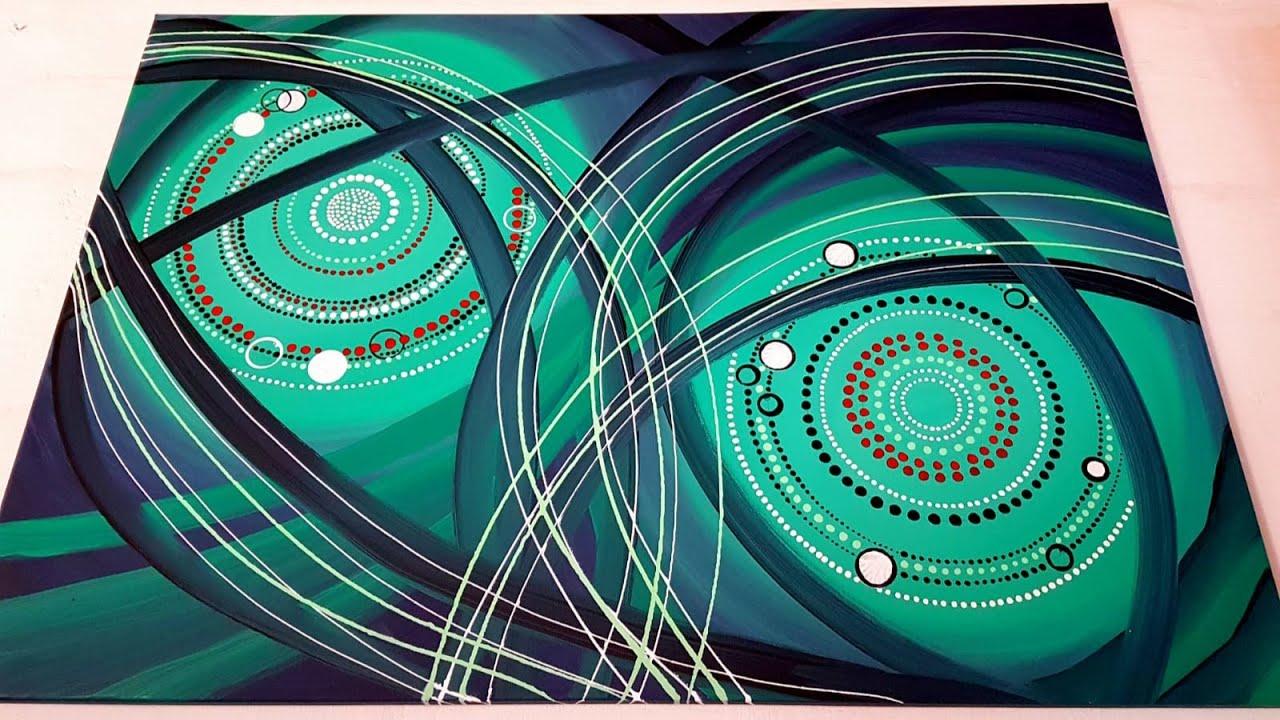 Acrylmalerei Abstrakt Figuren Teil2 Abstract Acrylic Painting