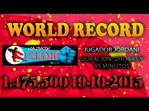 "WORLD RECORD KARATE CHAMP -  (1.475.500 PUNTOS) - ""GAME NOT OVER"" - [60fps][1080HD]"