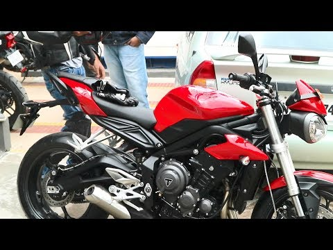 Taking DELIVERY of the 2018 STREET TRIPLE 765 in India | Hyd