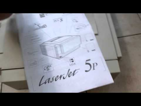 Hp LaserJet 5P Startup And Test Page Print