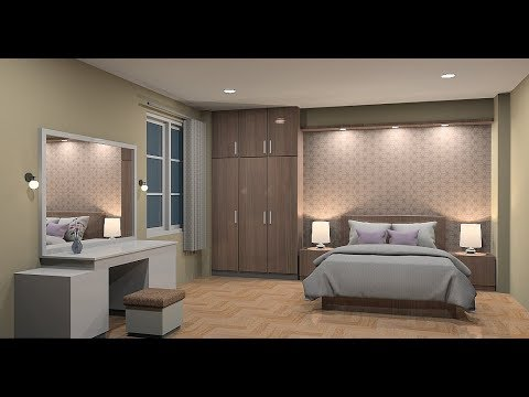 Design interior bedroom using Sketchup
